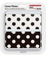 Nintendo Official Cover Plate for New 3DS - Black & White Polkadots /3DS (New)