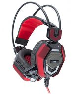 White Shark WS-TIGER GH-1644 Stereo Gaming Headset with Microphone and Multicolour LED Lighting - Black/Red (New)