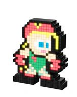 PDP Cammy Pixel Pals Street Fighter, Green/Red, 8.8 x 11.2 x 15.9 cm (New)