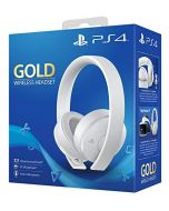 Gold Wireless Headset - White Edition (PS4) (New)