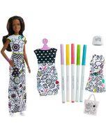 Barbie FPH91 Crayola Fashion Doll & Fashions, Multi-Colour (New)