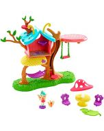 Enchantimals GBX08 Petal Park Playhouse, with Baxi Butterfly Mini Doll (2 Inch) and Wingrid Figure, Multicolored (New)