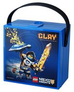 LEGO Nexo Knights Lunch Box with Handle, Bright Blue (New)