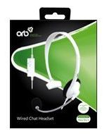 ORB Wired Chat Headset White Compatible with Xbox One S (New)