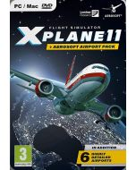 X-Plane 11 and Aerosoft Airport Collection PC DVD (New)
