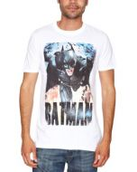 Loud Distribution The Dark Knight Rises - Running Flames Men's T-Shirt White X-Large (New)