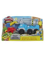 Play-Doh Wheels Cement Truck Toy for Children Aged 3 and Up with Non-Toxic Cement-Coloured Buildin' Compound Plus 3 Colours (New)
