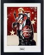 GB eye Ltd, Fallout 4, Nuka Cola, Framed Photograph, (16x12), Wood, Various, 52x44x3 cm (New)