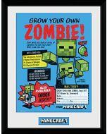 GB eye LTD, Minecraft, Grow Your Own Zombie, Framed Print 30x40cm, Wood, Various, 52 x 44 x 3 cm (New)