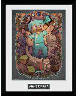 GB eye LTD, Minecraft, Steve Nouveau, Framed Print 30x40cm, Wood, Multi-Colour, 52 x 44 x 3 cm (New)