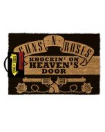 Guns N' Roses Knocking On Heaven's Door Mat, Coir, Black, 60 x 40 x 1.5 cm (New)