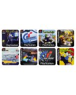 PlayStation Game Coasters, Papercard, Multi-Colour, 1 x 9 x 9 cm (New)