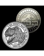 Jurassic Park 25th Anniversary Limited Edition Collectors Coin (Silver) (New)