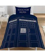 DOCTOR WHO Classic Tardis Single Duvet Cover Set (New)