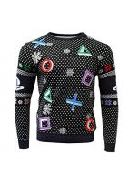 PlayStation Christmas Jumper Ugly Sweater Symbols Black for Men Women Boys and Girls - M (New)