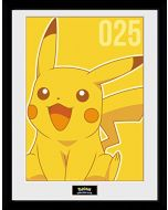 GB eye LTD, Pokemon, Pikachu Mono, Framed Print, 30 x 40cm, Wood, Multi-Colour, 52 x 44 x 3 cm (New)