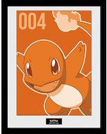 GB eye LTD, Pokemon, Charmander Mono, Framed Print, 30 x 40cm, Wood, Multi-Colour, 52 x 44 x 3 cm (New)