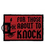 AC/DC For Those About To Knock Doormat, Coir, Multi-Colour, 40 x 60 cm (New)