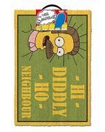 The Simpsons   (Hi Diddly Ho Neighbour Doormat, Multi Coloured, 40 x 60cm (New)