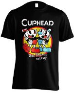 Cuphead Officially Licenced Don't Deal with The Devil Unisex Black T-Shirt (XL) (New)