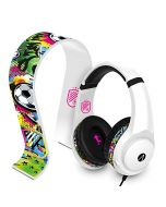 STEALTH Street Gaming Headset with Stand (White with Black/Graffiti Stand) (New)
