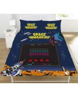 Space Invaders Coin Reversible Duvet Quilt Cover Bedding Set Childrens Kids Retro Game Fan Official (Double) (New)