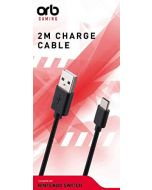 ORB 2 Metre Charge Cable compatible with Nintendo Switch (New)
