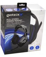 GIOTECK HC-2 Wired Stereo Headset with Adjustable Mic Boom for Sony PS4/Microsoft Xbox One/PC/Mobile - Black (HC2UNI-12-MU) (New)