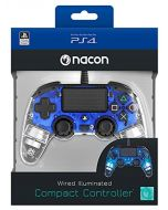 nacon Compact Light Wired Controller for PlayStation 4(Video Game Accessories, Playstation 4Controller, Digital/Analog, Share, Wire, Blue) (New)