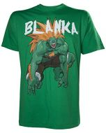 Meroncourt Men's Capcom Streetfighter Blanka T-Shirt, Green, Medium (New)