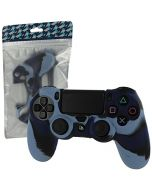 ZedLabz Soft Silicone Protective Cover for Sony PS4 Controller (Dark Blue Camo) (New)