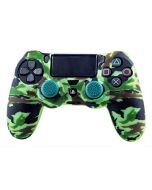 Silicone Skin + Thumb Grips Camo Woodland (PS4) (New)