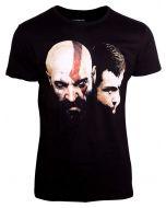 God of War T-Shirt Kratos Son - Men's T-Shirt Black-2XL (New)