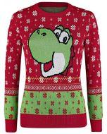 Super Mario Yoshi Knit Sweater Multicolour L (New)