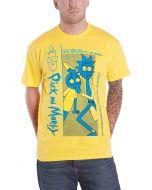 Rick and Morty - Crazy Crap Men's - T-Shirt (l) Yellow (New)