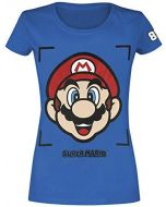 Super Mario Mario - Face T-Shirt Blue 122/128 (New)