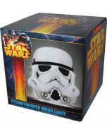 Star Wars Storm Trooper  - 3D Mood Light - White Head - Large 25cm  (UK plug)  (Gadgets) (New)