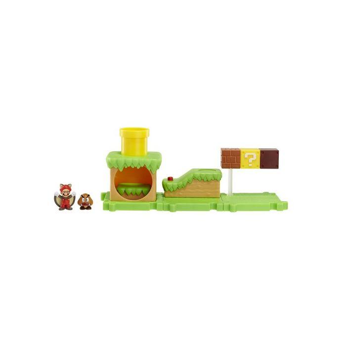 Flying Squirrel Mario Acorn Plains (Super Mario Bros) Microland Action Figure (New)
