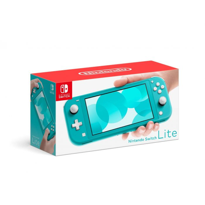 Nintendo Switch Lite Portable Gaming Console, European Edition, Turquoise (New)