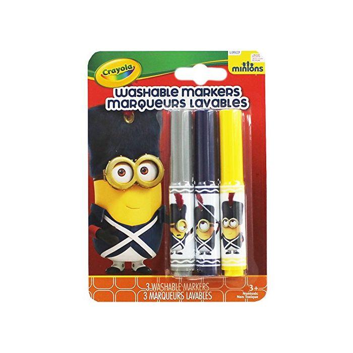 Crayola Minions Washable Markers - Grey Navy Yellow (New)