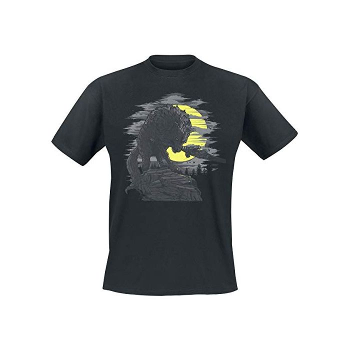 Dark Souls Great Grey Wolf T-Shirt Black L (New)