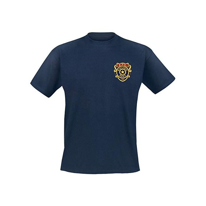 Resident Evil Racoon Police Department - Pocket T-Shirt Blue M (New)