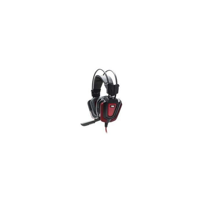 White Shark WS-PUMA GH-1843 Stereo Gaming Headset with Microphone and Multicolour LED Lighting - Black/Red (New)
