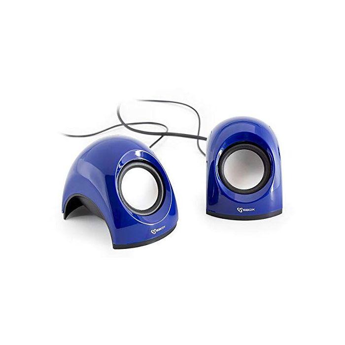 White Shark WS-SP-092BL SBOX USB Stereo Speaker - Blue (New)