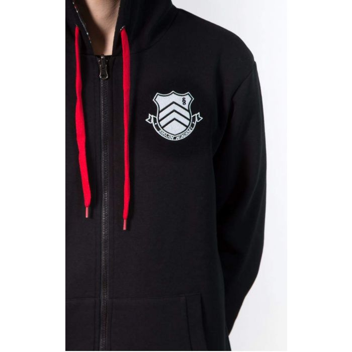 Persona 5 - Shujin Academy Reversible Zipper Hoodie (Male Version) (XL) Black (New)