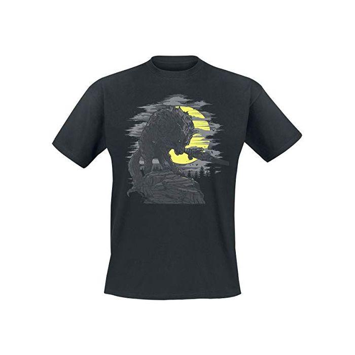 Dark Souls Great Grey Wolf T-Shirt Black S (New)