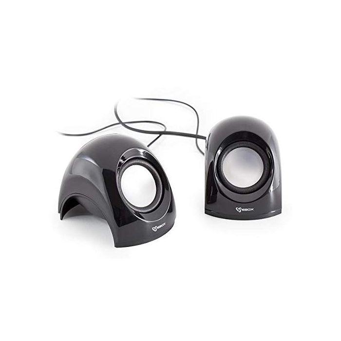 White Shark WS-SP-092B SBOX USB Stereo Speaker - Black (New)
