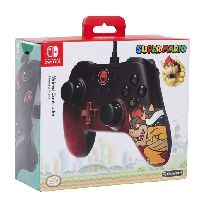 Wired Controller for Nintendo Switch - Bowser (New)
