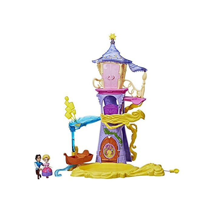 Disney Princess Playset Magical Movers Twirling Tower Adventures, 2 Dolls Included -- Rapunzel and Eugene Fitzherbert, Toy for 4 Year Olds and Up (New)