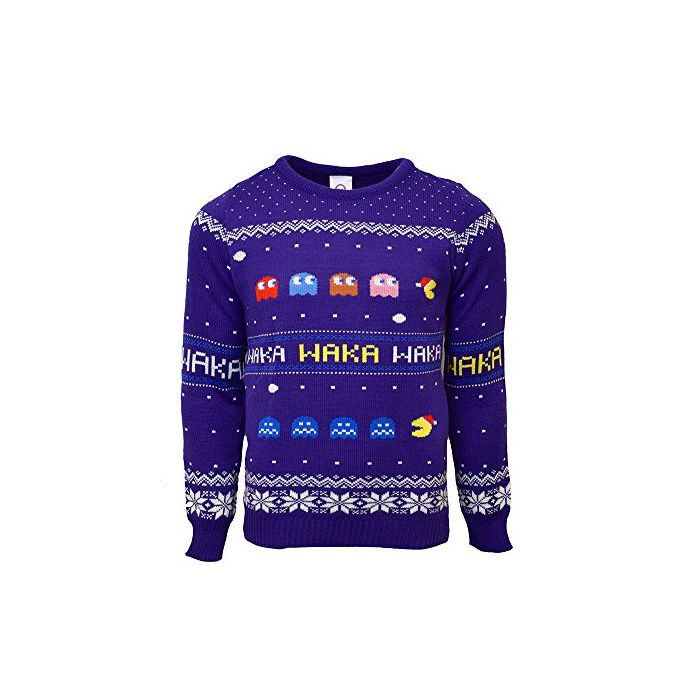 Pac-Man Official Christmas Jumper / Sweater - Large (New)